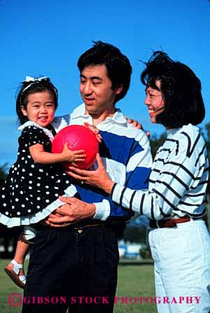 Stock Photo #2516: keywords -  asian child daughter ethnic family father girl japanese minority mother outdoor parent released summer vert