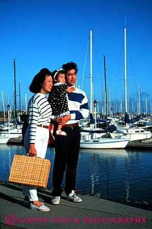 Stock Photo #2517: keywords -  asian boat child daughter ethnic family father girl japanese marina minority mother outdoor parent released summer vert