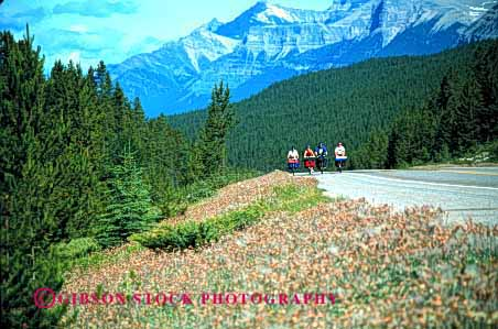 Stock Photo #2567: keywords -  adventure bicycle bicycling bike camp canada child children exercise family father fitness four highway horz jasper mother national parent park peddle recreation released ride roll together tour touring workout
