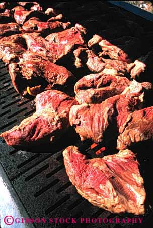 Stock Photo #2610: keywords -  barbecue bbq beef cook food grill heat meat red sizzle tip tri vert