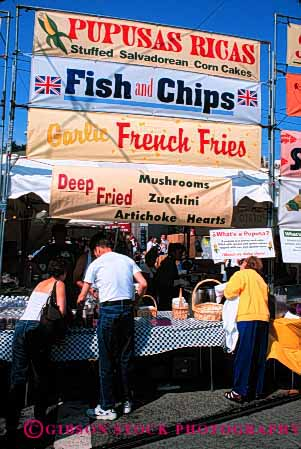 Stock Photo #2615: keywords -  business commerce cook eat festival food french fries sell serve service snack vendor vert