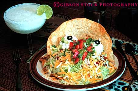 Stock Photo #2633: keywords -  diner drink eat ethnic food horz meal mexican tostada