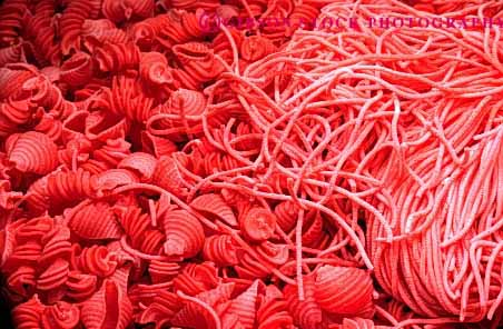 Stock Photo #2637: keywords -  food horz noodle pasta red starch unusual