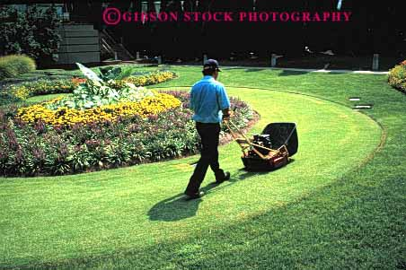 Stock Photo #2673: keywords -  business career check cut employee equipment grass groom horz income job labor landscape lawn machine maintenance man motor mower not occupation pay profession released skill vocation work