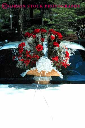 Stock Photo #2754: keywords -  affection bouquet bride car celebrate commitment family groom husband love man marriage share together vert vow wedding wife woman