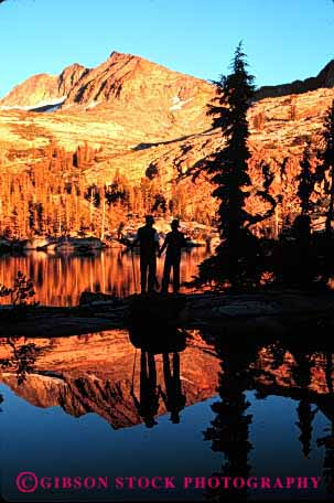 Stock Photo #2805: keywords -  affection california couple explore fun hand hold husband intimate lake landscape national ottoway outdoor park play recreation reflection released scenic share summer sunset together vert wife wilderness yosemite