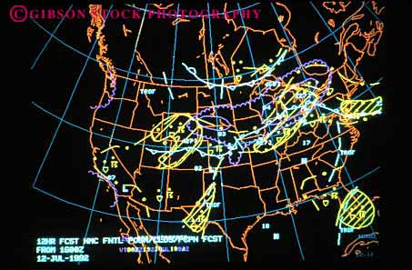 Stock Photo #2924: keywords -  aerial america chart computer continents data graphic horz image latitude longitude map national north oceans pattern process satellite service weather