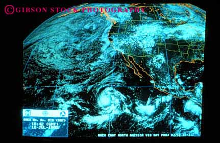 Stock Photo #2925: keywords -  aerial cell chart cloud computer data earth graphic horz image latitude longitude map moisture national ocean oceans pacific pattern planet process satellite service storm weather
