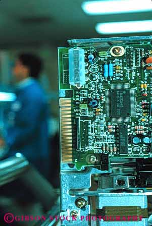 Stock Photo #2933: keywords -  assembly board circut computer electronic factory in laboratory machine technology vert