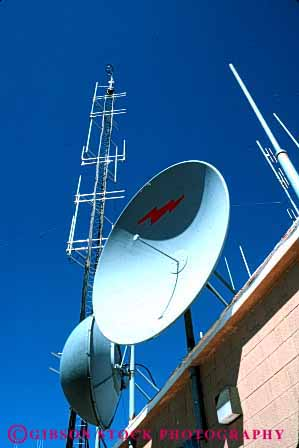 Stock Photo #2993: keywords -  antenna broadcast communicate dish electronic equipment industry metal network receive reception technology telecommunicate telecommunications vert