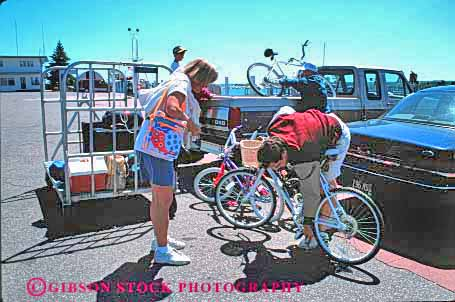 Stock Photo #3033: keywords -  bicycles couple exercise explore group horz not recreation released see site summer tourist traveler vacation visitor