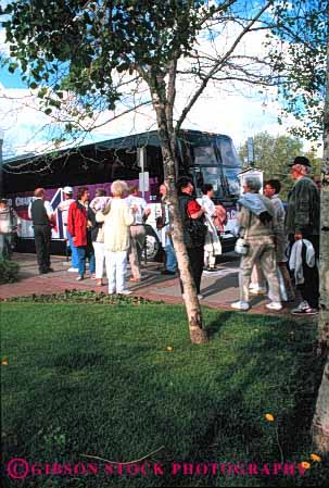 Stock Photo #3036: keywords -  bus citizen colorado durango elderly explore group line mature not recreation released see senior site summer tour tourist traveler vacation vert visitor