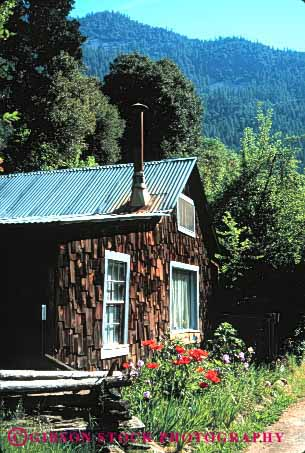 Stock Photo #3045: keywords -  alone away cabin forest get home house isolate landscape mountain nature old private remote retreat rustic scenic small solitude tradition vert wilderness