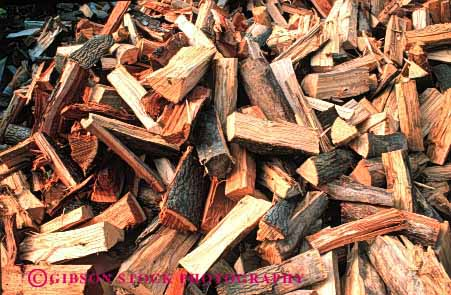 Stock Photo #3069: keywords -  burn combust energy firewood fuel heat horz pile source split tree wood