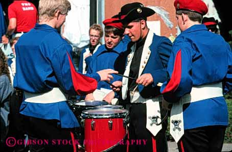 Stock Photo #3077: keywords -  band before celebrate colorful coordinate drum horz marching move music musician noise not parade percussion performance practice released row show sound team together uniform up walk warm