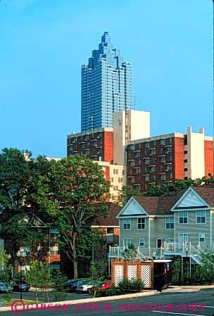Condominium Apartment Building Atlanta Georgia Stock Photo