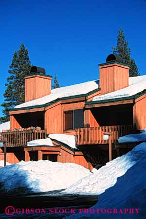 Stock Photo #3091: keywords -  apartment architecture building california cold condominium home residential snow square squaw valley vert winter