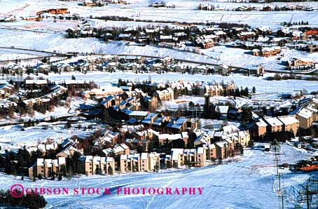 Stock Photo #3096: keywords -  aerial apartment architecture buildings cold complex condominium development grid home horz idaho pattern residential snow square sun urban valley winter