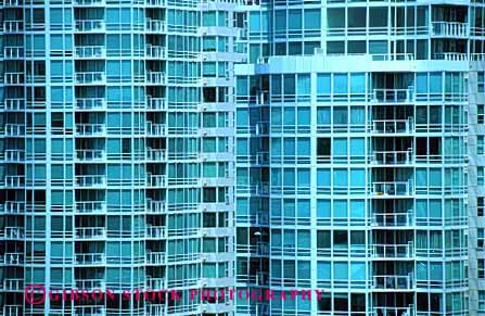 Stock Photo #3099: keywords -  apartment architecture balconies balcony building canada condominium glass grid home horz pattern residential square urban vancouver window