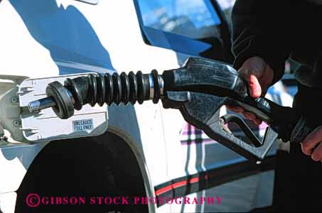 Stock Photo #3146: keywords -  auto car fuel gas gasoline handle horz hose industry machine nozzle petroleum pump recovery service station transportation vapor vehicle