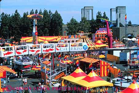 Stock Photo #3162: keywords -  activity aerial amusement annual attraction california colorful elevated event fair family festival fun horz park parks play public sacramento state summer view