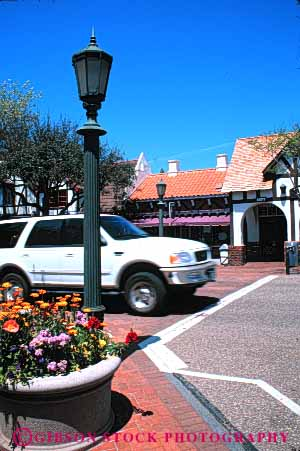 Stock Photo #3232: keywords -  auto california car drive four recreational solvang sport street suv town urban utility vehicle vert wheel