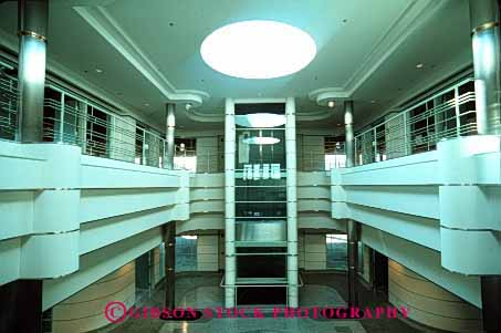 Stock Photo #3249: keywords -  architecture atrium building business commerce design horz interior modern new office rotunda symmetry vacant