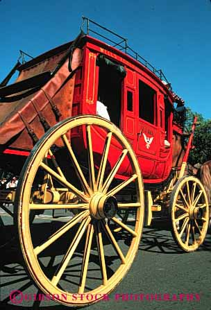 Stock Photo #4014: keywords -  cart coach historic old stage tradition transportation vert wagon west western wheel
