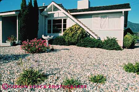 Stock Photo #4070: keywords -  conservation demand drought dry garden home horz house landscape low residence tolerant water