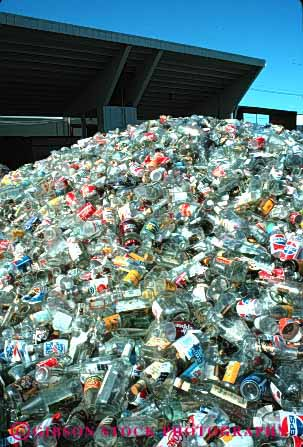 Stock Photo #4085: keywords -  clear glass industry material recycle recycling resource reuse site station vert