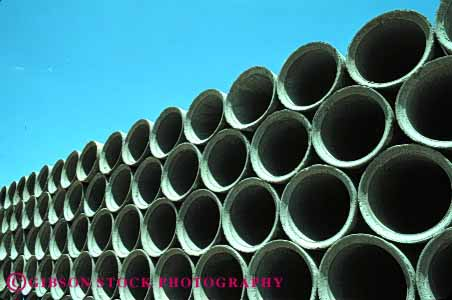 Stock Photo #4110: keywords -  circle concrete end geometrical geometry horz parallel pattern pipe repeat repetition round stack symmetry
