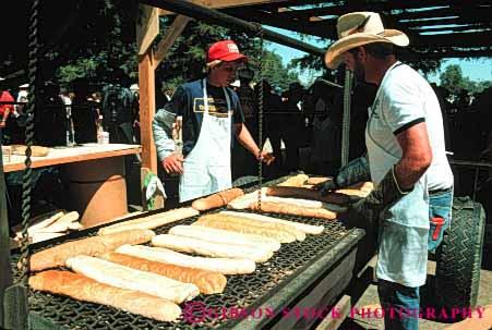 Stock Photo #4124: keywords -  annual bread california cook cooking event fair festival food garlic gilroy grill horz prepare process serve