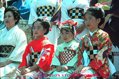 Stock Photo #4251: keywords -  annual asian blossom celebrate celebration cherry color colorful costume dance display ethnic event festival francisco girls horz japanese japantown minority music performance san show together tradition unity