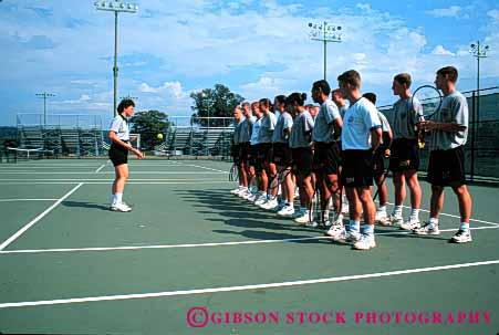 Stock Photo #4260: keywords -  adult cadet class educate education exercise gender group horz instruct instructor learn men military mixed new physical point practice row school sport summer teach tennis together train training uniform west women york