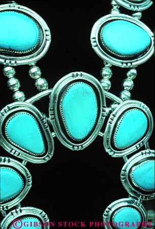 Stock Photo #4311: keywords -  american blue craft decorate design expensive fancy handmade indian jewelry native necklace original precious priceless rare silver southwest style turquoise unique valuable vert