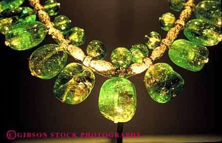 Stock Photo #4318: keywords -  decorate emerald expensive fancy gold green horz jewelry luxury necklace precious priceless rare unique valuable