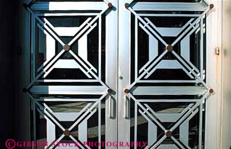 Stock Photo #4374: keywords -  angle architecture city custom design door doorway entrance entry frame geometric hall heavy horz metal orlando pattern shape steel triangle