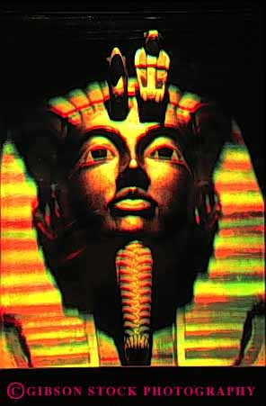 Stock Photo #4407: keywords -  artificial color dimension dimensional egypt face fake head hologram illusion image light pharaoh science symbol technology three unreal vert