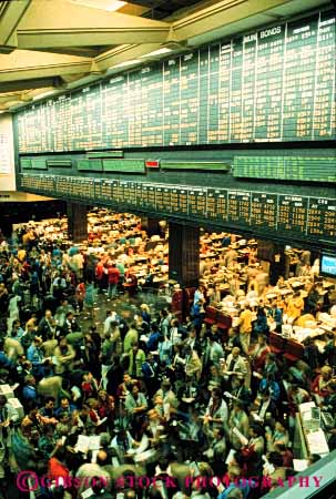 Stock Photo #4415: keywords -  board bonds business buy chicago commerce commodities commodity communication down floor fluctuate fluctuation force investment job labor market men money occupation of risk securities sell share stock trade traders trading up value variable vert work workers