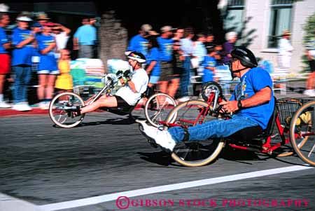 Stock Photo #4445: keywords -  athlete blur challenge challenged disability disabled disadvantage disadvantaged dynamic handicap handicapped horz impair impaired men motion move movement need needs race racer racers special sport wheelchair