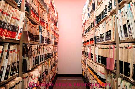 Stock Photo #4481: keywords -  data file files health horz hospital lots many medical medicine numerous organize overwhelming paperwork record records row rows service shelf shelves stacks staff