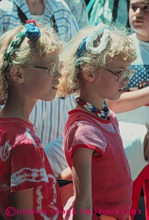Stock Photo #4513: keywords -  blond child children girls identical look same sibling sister sisters twin twins two vert