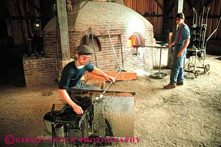 Stock Photo #4521: keywords -  blower craft crafting craftsman create farm glass hale heat historic history horz hot kiln living make maker manufacture manufacturing melt ohio old oven portray pretend reenact reenactment skill tradition traditional