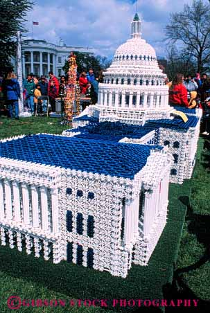 Stock Photo #4539: keywords -  building capitol down miniature model national replica scale small vert washington white