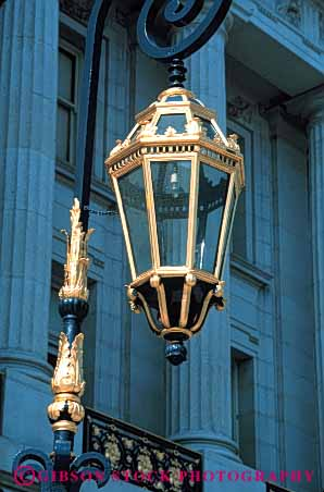 Stock Photo #4572: keywords -  architecture city francisco gold golden hall lamp leaf paint painted san simulated tradition traditional vert