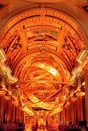 Stock Photo #4573: keywords -  architecture dome gold golden las lobby resort rotunda sculpture vegas venetian vert