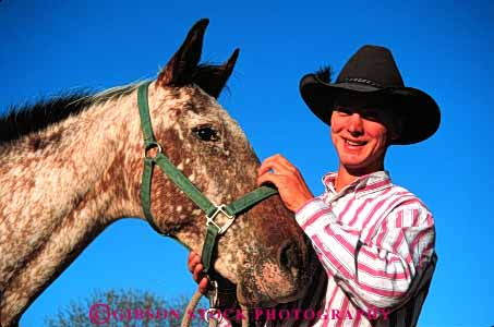 Stock Photo #4593: keywords -  americana career cowboy folklore horse horseman horz job occupation outdoor outside ranch released rough rugged southwest tradition traditional vocation west western wrangler