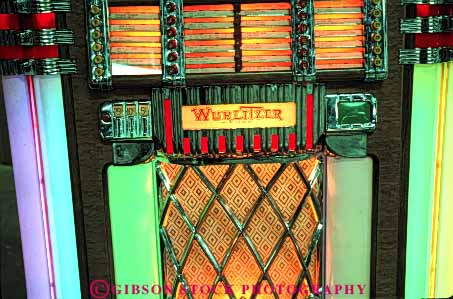 Stock Photo #4595: keywords -  antique box color colorful fashion fashioned horz juke jukebox jukeboxes lighting machine music neon old play player record sound vintage wurlitzer