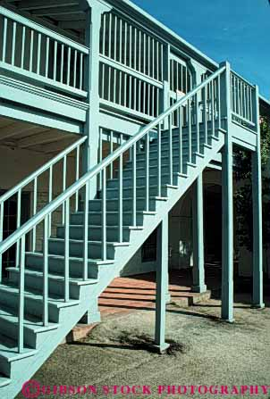 Stock Photo #4617: keywords -  angle angles architecture design elevate elevation frame function geometric geometry height monterey old right stair staircase stairs step steps tradition traditional up vert walk wood