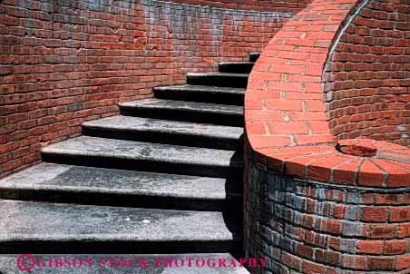 Stock Photo #4623: keywords -  angle angles architecture brick curve design elevate elevation function geometric geometry height horz radius right rock spiral stair staircase stairs step steps stone turn up walk